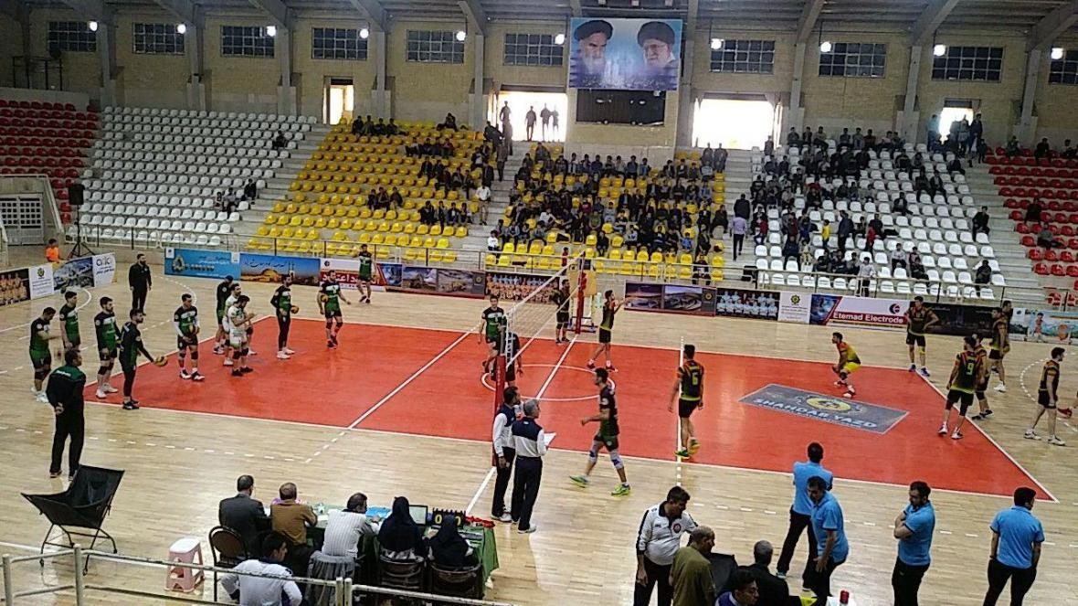 لیگ برتر والیبال، پیروزی ارزشمند شهداب یزد برابر راه یاب ملل مریوان
