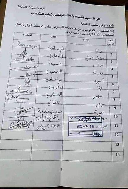 استعفای 10 تن از نمایندگان حزب قلب تونس