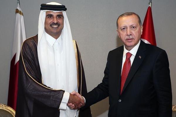 تأکید اردوغان و امیر قطر بر تقویت روابط دوجانبه
