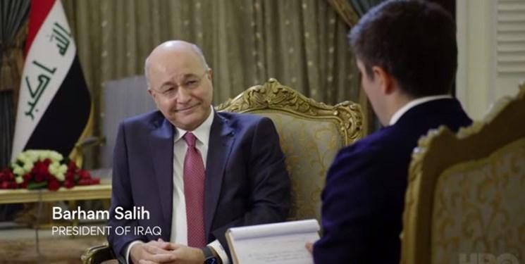 المیادین ملاقات برهم صالح با مقام آمریکایی در الانبار راتکذیب کرد