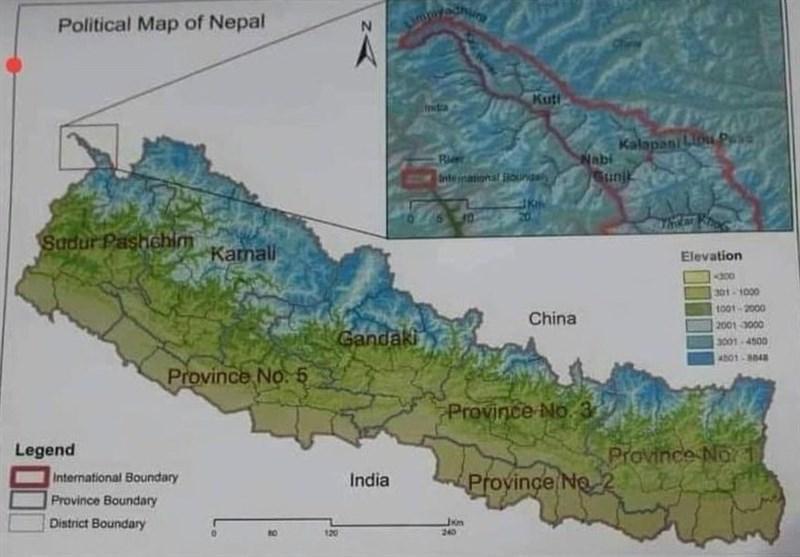 افزایش منازعات مرزی نپال و هند؛ کاتماندو نقشه جدید منتشر کرد