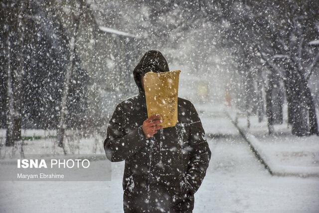 بارش اولین برف پاییز 99 در آذربایجان شرقی