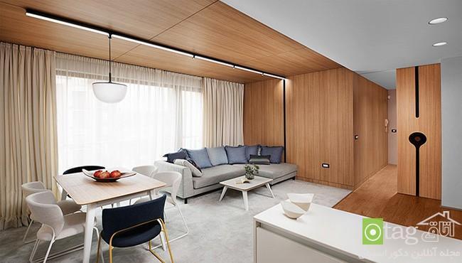 تزیین دکوراسیون داخلی منزل با استفاده از چوب طبیعی و باکیفیت