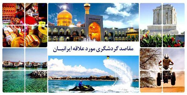 مقاصد گردشگری مورد علاقه ایرانیان