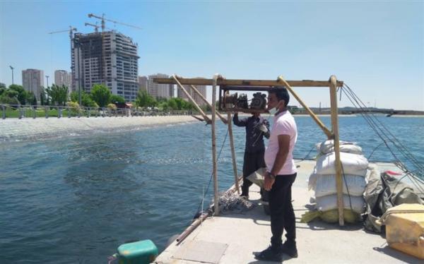 تخلیه اسکله شرقی دریاچه شهدای خلیج فارس